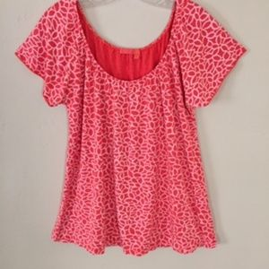 Fresh Produce Floral Peasant Tunic Top